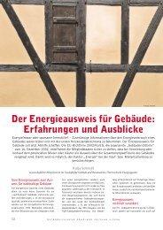 Der Energieausweis für Gebäude - Katja Bettina Schmidt