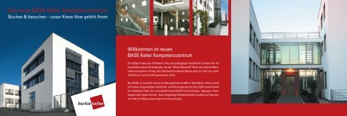 Das neue BASE Keller Kompetenzzentrum - Betonwerk Bürkle ...