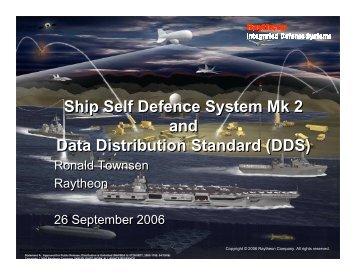 Ship Self Defence System Mk 2 and Data Distribution Standard (DDS)