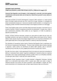 CERAMICA SANT'AGOSTINO PRIME VALUTAZIONI A ...