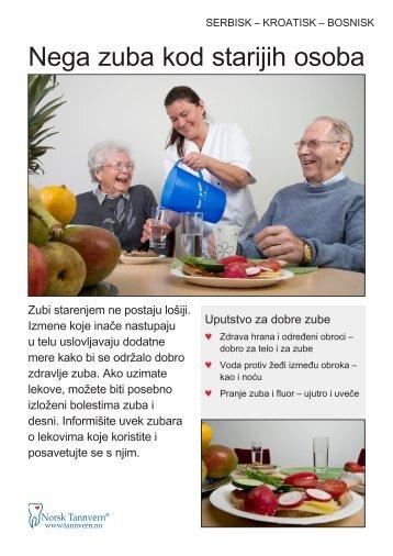 Nega zuba kod starijih osoba - Norsk Tannvern
