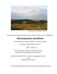 Fall Symposium and Dinner - MA AFCC