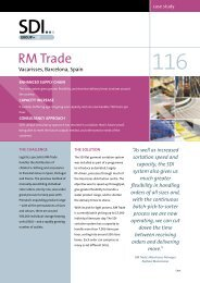 Case Study 116 – RM Trade, Vacarisses, Spain - SDI Group