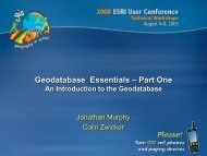 Geodatabase Essentials – Part One: An Introduction to the ...