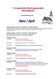 Veranstaltungen - Maintal-kirche.de