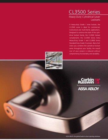 CL3500 Series Sell Sheet - Corbin Russwin