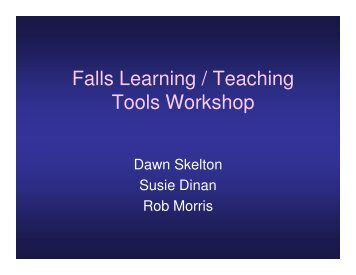 Falls Learning / Teaching Tools Workshop - Later Life Training