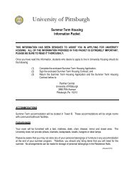 Summer Information Packet 2011 - Panther Central - University of ...