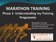 Marathon Training – The Beginning Phase