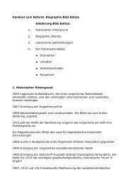 Handout zum Referat: Biographie Béla Balázs Gliederung Béla ...