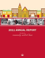 Annual Report 2011 - Gifford Medical Center