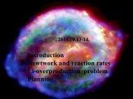 天体核网络方程