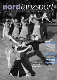 Formiert und zu zweit an der Spitze - Deutscher Tanzsportverband eV