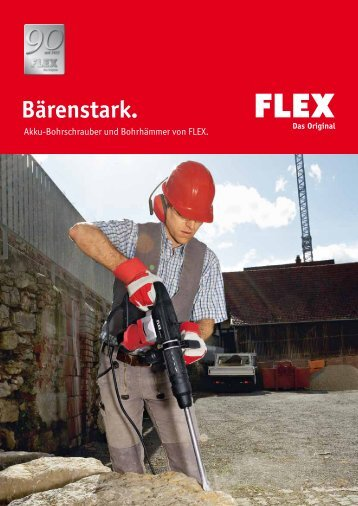 Akku-Bohrschrauber und Bohrhämmer von FLEX.