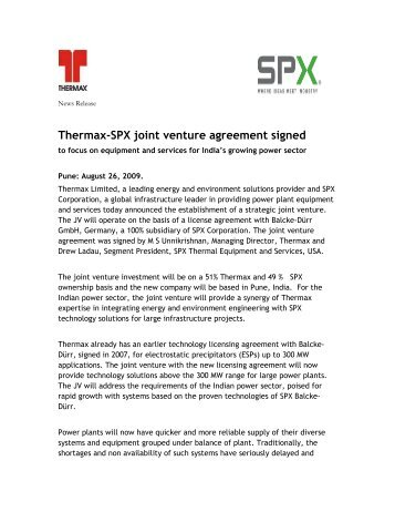 Bust it records joint venture agreement with capitol thermax spx joint venture agreement signed platinumwayz