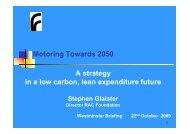 Low carbon, lean expenditure - Glaister - RAC Foundation