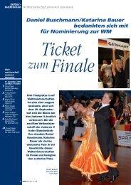 Daniel Buschmann/Katarina Bauer bedankten sich mit für ...