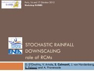 Stochastic rainfall downscaling of the PROTHEUS regional climate ...