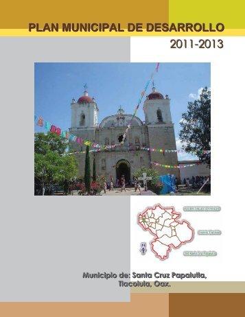 plan municipal de desarrollo 2011-2013 - finanzasoaxaca.go..