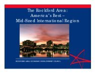 Power point presentation on Rockford Area advantages for ...