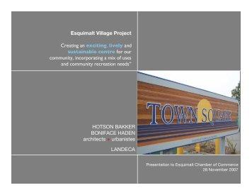 Esquimalt Village Project - Chamber Presentation-final
