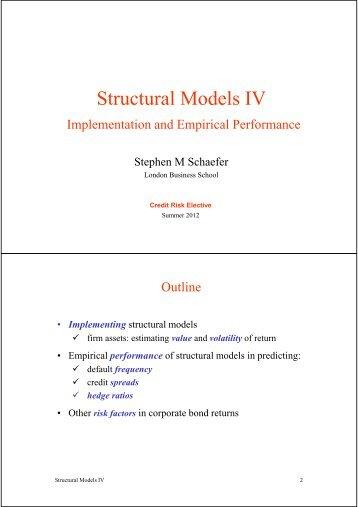 03 structural models 4 - DSE