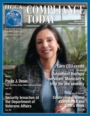 Earn CEU credit - Health Care Compliance Association