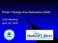 Phase 1 Dredge Area Delineation (DAD) CAG Meeting April 28, 2005