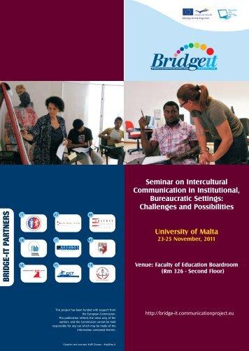 Malta Programme - Bridge-it - communicationproject.eu