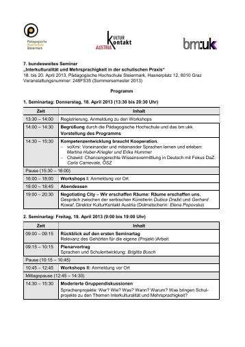 18. bis 20. April 2013, Pädagog - Schule mehrsprachig
