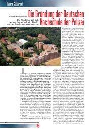 Die Gründung der - Deutsche Hochschule der Polizei