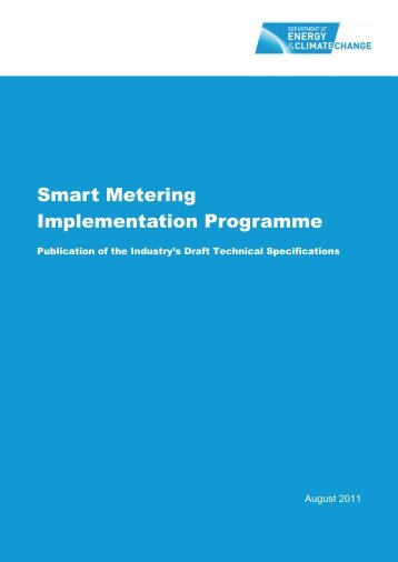 Smart Metering Implementation Programme - Department of Energy ...