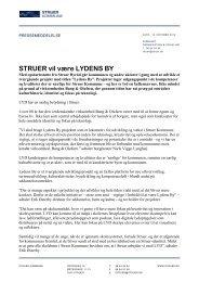 Pressemeddelelse Struer vil være Lydens By - Struer kommune