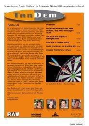 Nr. 3, Ausgabe Oktober 2008 PDF 460 kByte - Tandem St. Gallen