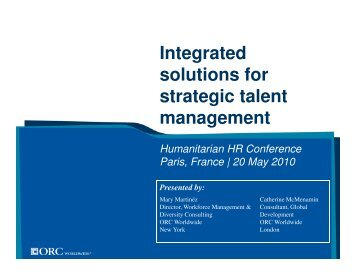 Integrated solutions for strategic talent management - People In Aid