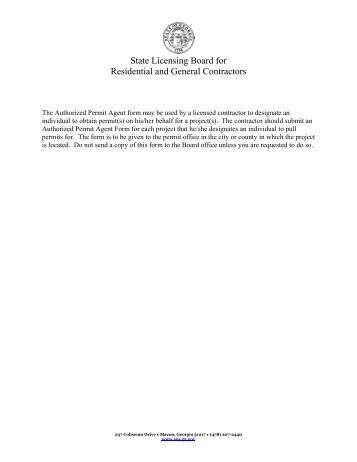 Cool Authorized Permit Agent Form Douglas County Georgia Review - Unique contractors state license board Idea