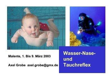Wasser-Nase- und Tauchreflex