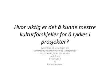 Svein-Arne Jessen (BI) - Norsk senter for prosjektledelse