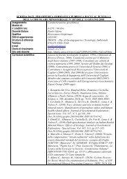 Caratterizzazione geochimica - Ingegneria per l'Ambiente e il Territorio