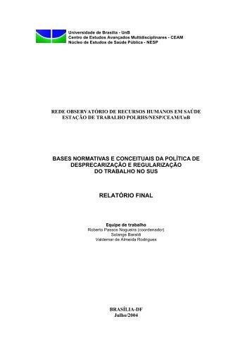 RELATÓRIO FINAL - Rede ObservaRH