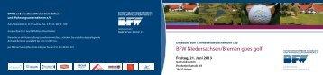 BFW Niedersachsen/Bremen goes golf - BFW Bundesverband ...