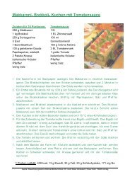 Makkaroni- Brokkoli- Kuchen mit Tomatensauce