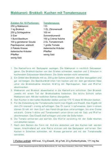 Makkaroni brokkoli kuchen