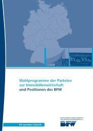 Wahlprogramme der Parteien zur Immobilienwirtschaft und ...