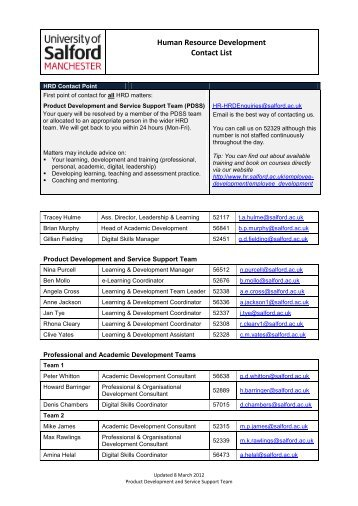 Contact List Of Benefit Resources Freescale