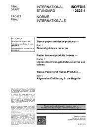 ISO/FDIS 12625-1 Tissue paper and tissue products - TAPPI