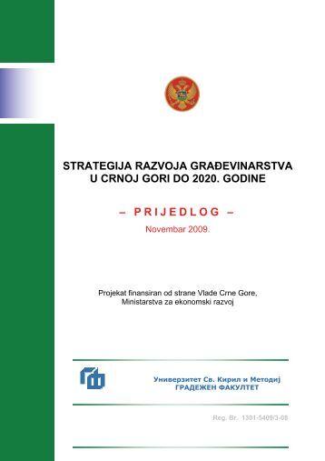 strategija razvoja grağevinarstva u crnoj gori do 2020. godine