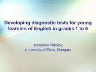 Developing diagnostic tests for young learners of English in ... - ALTE