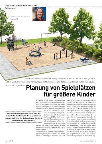 Artikel zu Kinderspielplätzen in Wohnanlagen - VDIV-Partner