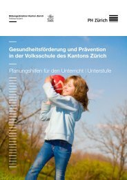 Unterstufe - Planungshilfe 2012 - Kanton Zürich